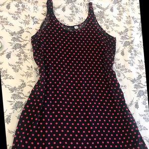 H&M Divided Pink&Black Polkadot Dress
